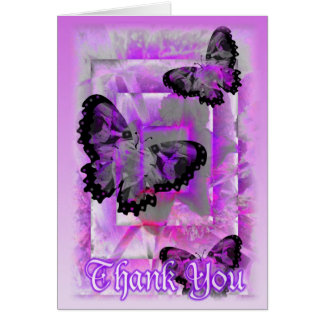 Thank You Butterfly Wishes by Valxart Greeting Card