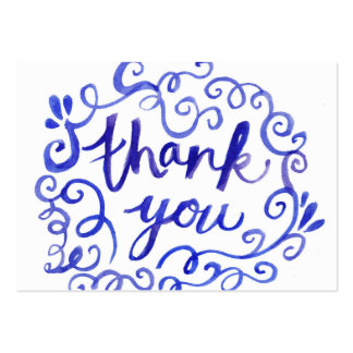 Thank You Calligraphy Text Pack Of Chubby Business Cards