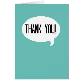 Thank you! card