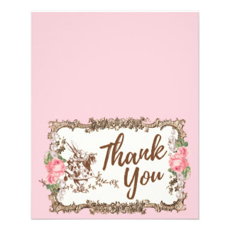 Thank You card -  Alice in wonderland 11.5 Cm X 14 Cm Flyer
