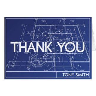 Thank You Card - Blueprint Theme