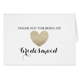 Thank You Card - Bridal Heart