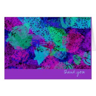 Thank You Card - Bright Sponge Splotch