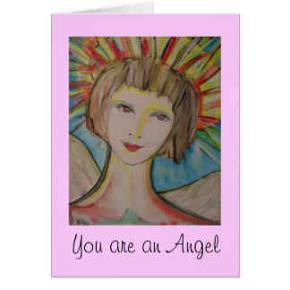 "Thank you card by ValAries ""You are an Angel"""