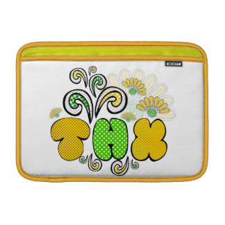 """""""Thank you"""" card, doodle drawing design, spring MacBook Sleeve"""