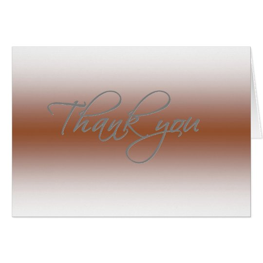 Thank you card - Faded Coppertone