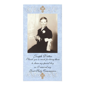 Thank you card First Communion Photo Greeting Card