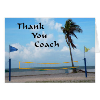 Thank You Card for Beach Volleyball Coach