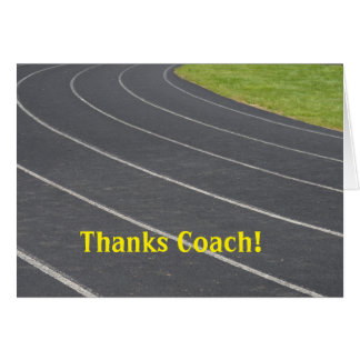 Thank You Card For Coach!