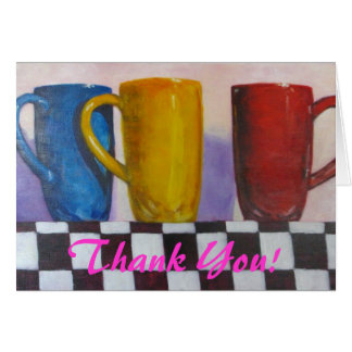 thank you card for coffee & art lovers