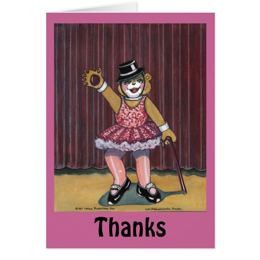 Thank You Card for Dance Instructor