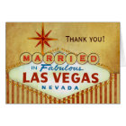 Thank you Card for Las Vegas Wedding