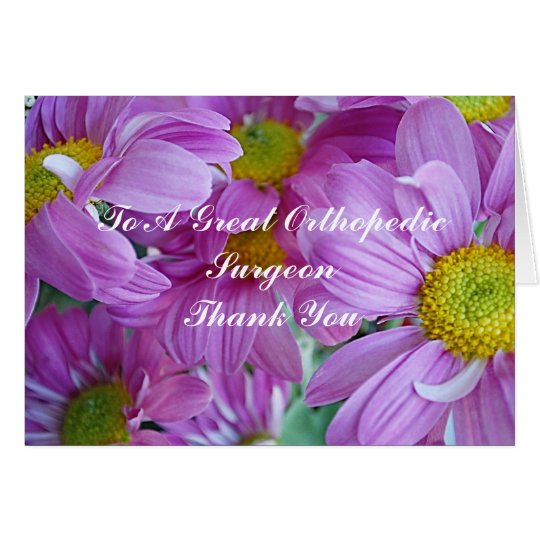 Thank You Card For Orthopaedic Surgeon