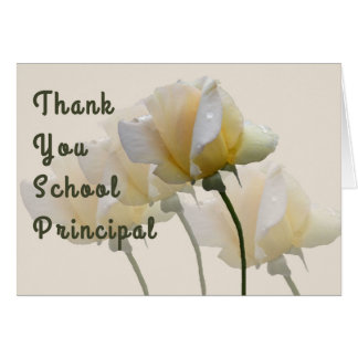 Thank You Card for School Principal