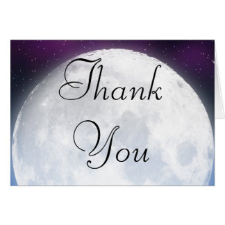 Thank You Card for Space Theme
