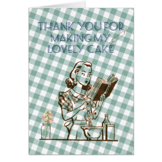 Thank you card for your cake maker