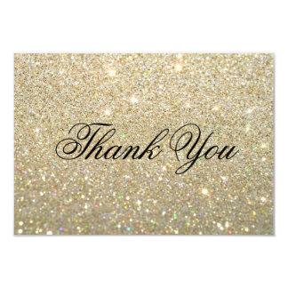 Thank You Card - Gold Glit Fab 9 Cm X 13 Cm Invitation Card