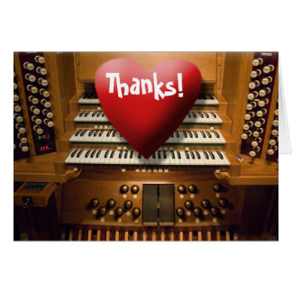 Thank you card - heart on keys
