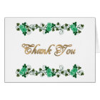 Thank you card Irish theme Celtic cross