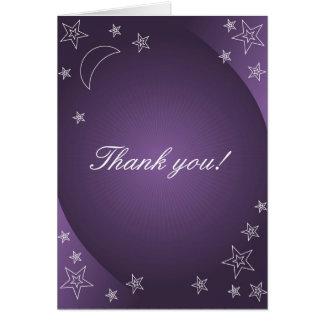 Thank you card - night on purple