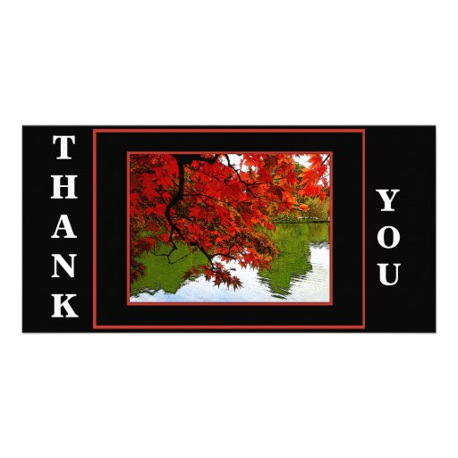 Thank You Card Pack of 10 - Autumn Scene Picture Card