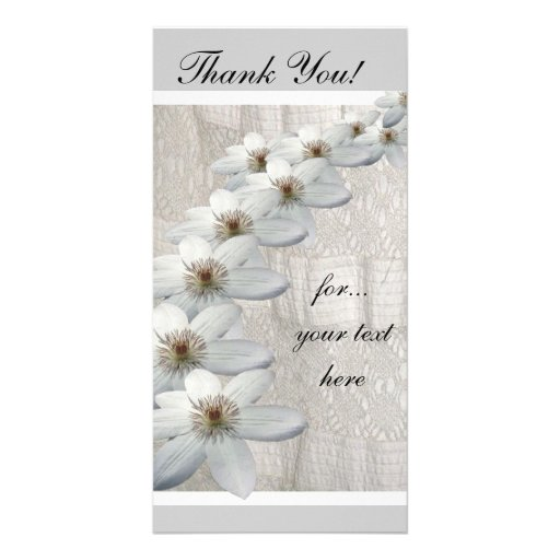 Thank You Card Pack of 10 Personalized Photo Card