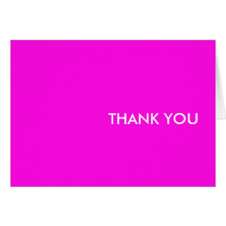 "thank you card--""pink dice eighties"" card"