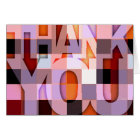 Thank You Card Purple Mosaic
