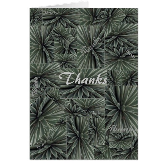 Thank you card rainforest many thanks
