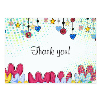 Thank you card, spring doodle mood card