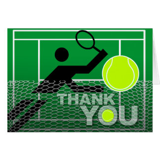 Thank You Card Tennis Player