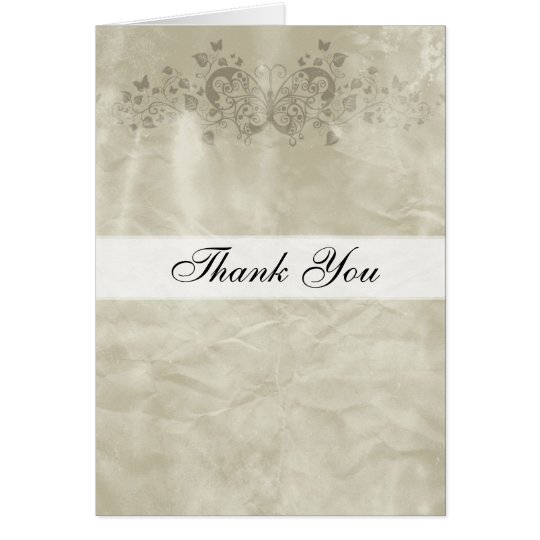 Thank you card Vintage Paper Butterfly