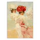 THANK YOU CARD Vintage Victorian Friends Fashions