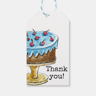 Thank you card with cute cake