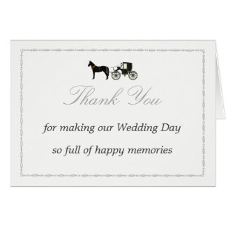 Thank You Card with Horse & Carriage
