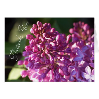 Thank You Card with Lilacs