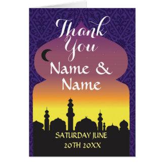 Thank You Cards Arabian Nights Wedding Purple