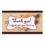 Thank you cards business card templates