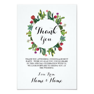 Thank You Cards Cactus Wreath Fiesta Wedding