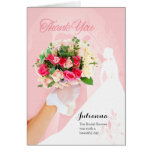 Thank You Cards Customised From the Bride Pink