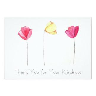 Thank You Cards, Hand-drawn flowers 13 Cm X 18 Cm Invitation Card