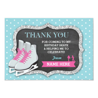 Thank You Cards Ice Skating Birthday Party
