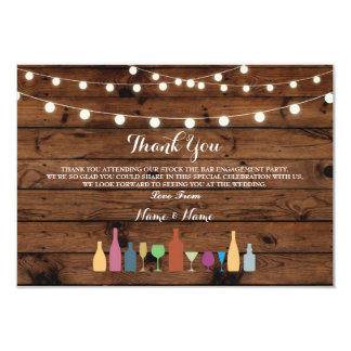 Thank You Cards Stock The Bar Lights Drinks Wood