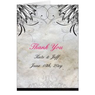 Thank You Cards- Tattoo Urban Fluers Greeting Card