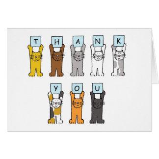 Thank You cartoon cats . Cards