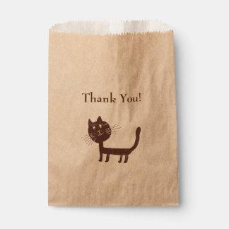 Thank You Cat Drawing  Favor Bag