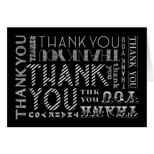Thank You Chalk Typography Card (Colour Options)