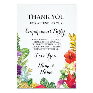 Thank You Chalkboard Rustic Aloha Luau Card