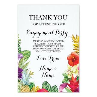 Thank You Chalkboard Rustic Aloha Luau Card 9 Cm X 13 Cm Invitation Card