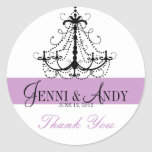 Thank You Chandelier Names Wedding Favour Sickers Round Stickers